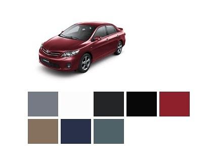 Colores Carro Toyota Corolla