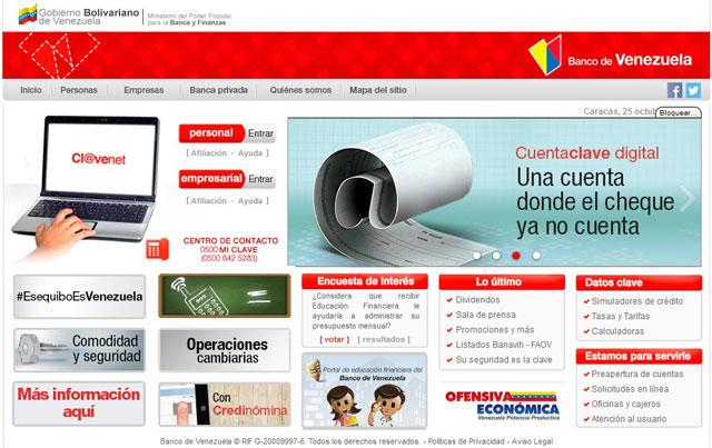 for Banco venezuela online